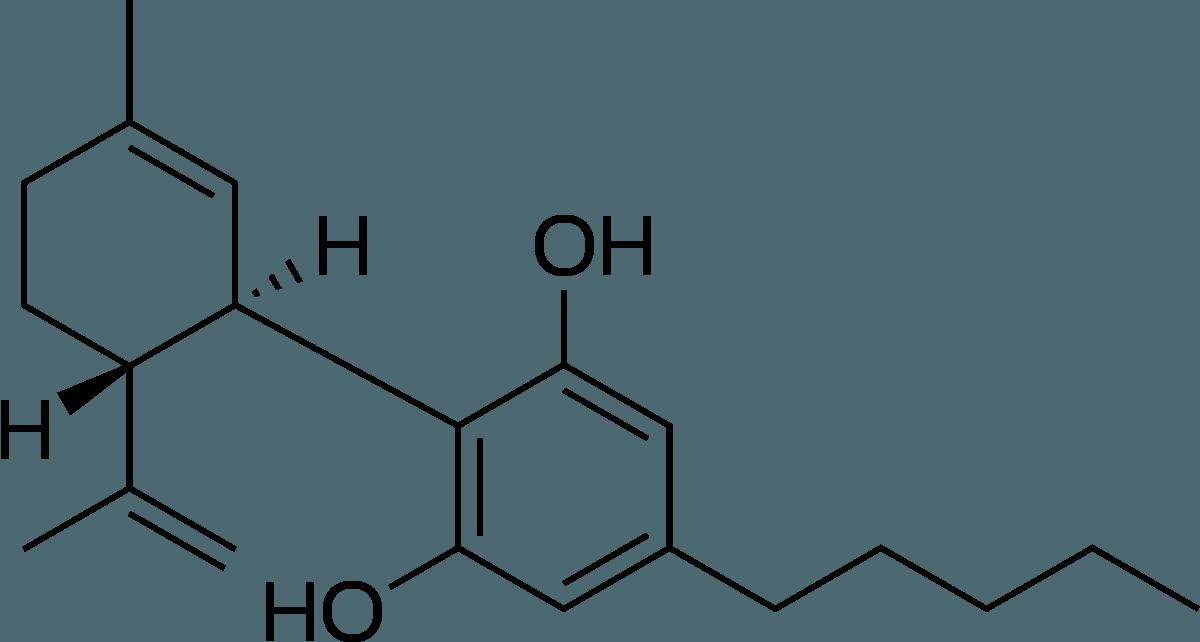 Cannabidiol Molecule.