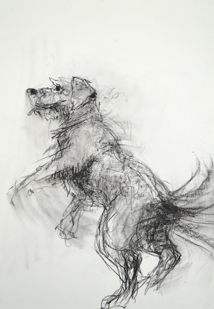 "Drawing Movement & Motion – Gesture Drawing, Charcoal, 36"" x 24"""
