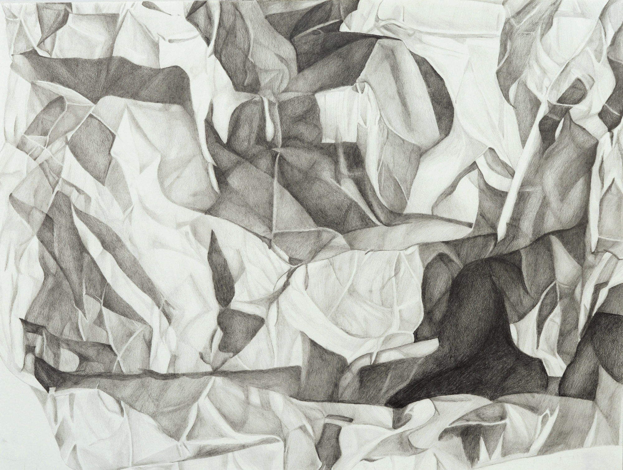 "Perceptual Drawing – Paper Pal Value Drawing, graphite, 18"" x 24"""