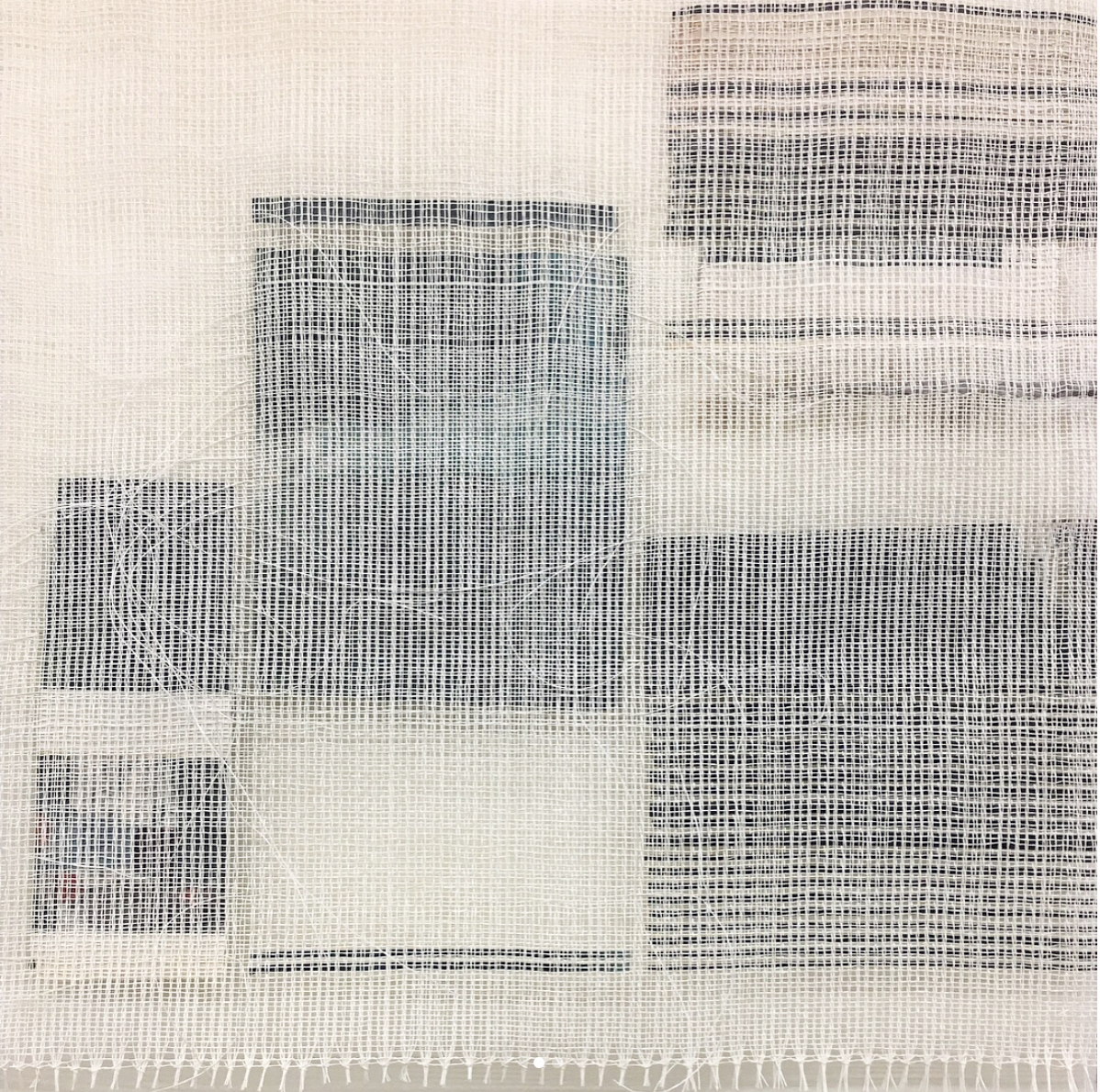 "Experimental Drawing and Sketchbook Development, paper/weaving, 18"" x 13"""