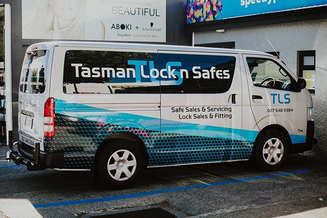 Full van wrap design for Tasman Lock 'n' Safe.