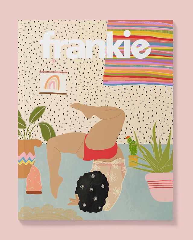I saw Frankie mag looking for illustrators and thought why not. I've loved them for years. I even collect them just because the covers are cute 😍 So here's my entry for #myfrankiecover #frankiemagazine @frankiemagazine