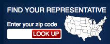 1. Introduzca su código postal aquí para descubrir quién lo representa en su comunidad. -