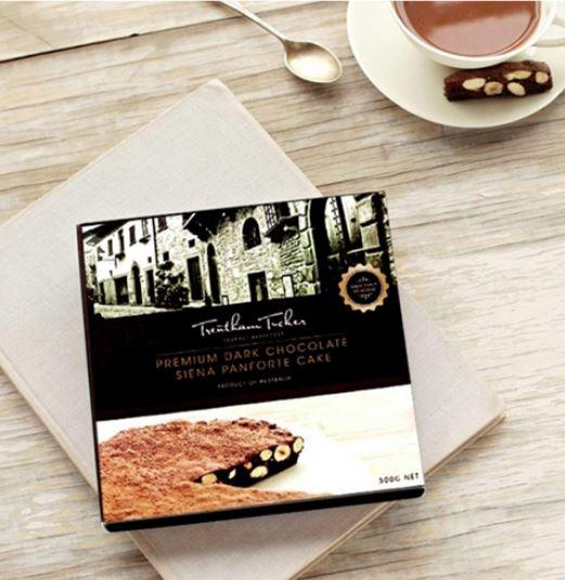 A glorious dark chocolate siena panforte cake from the Trentham Tucker crew.