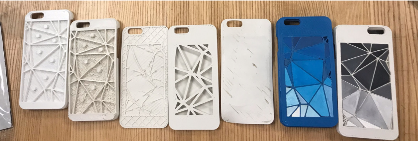 the evolution and failed prints…