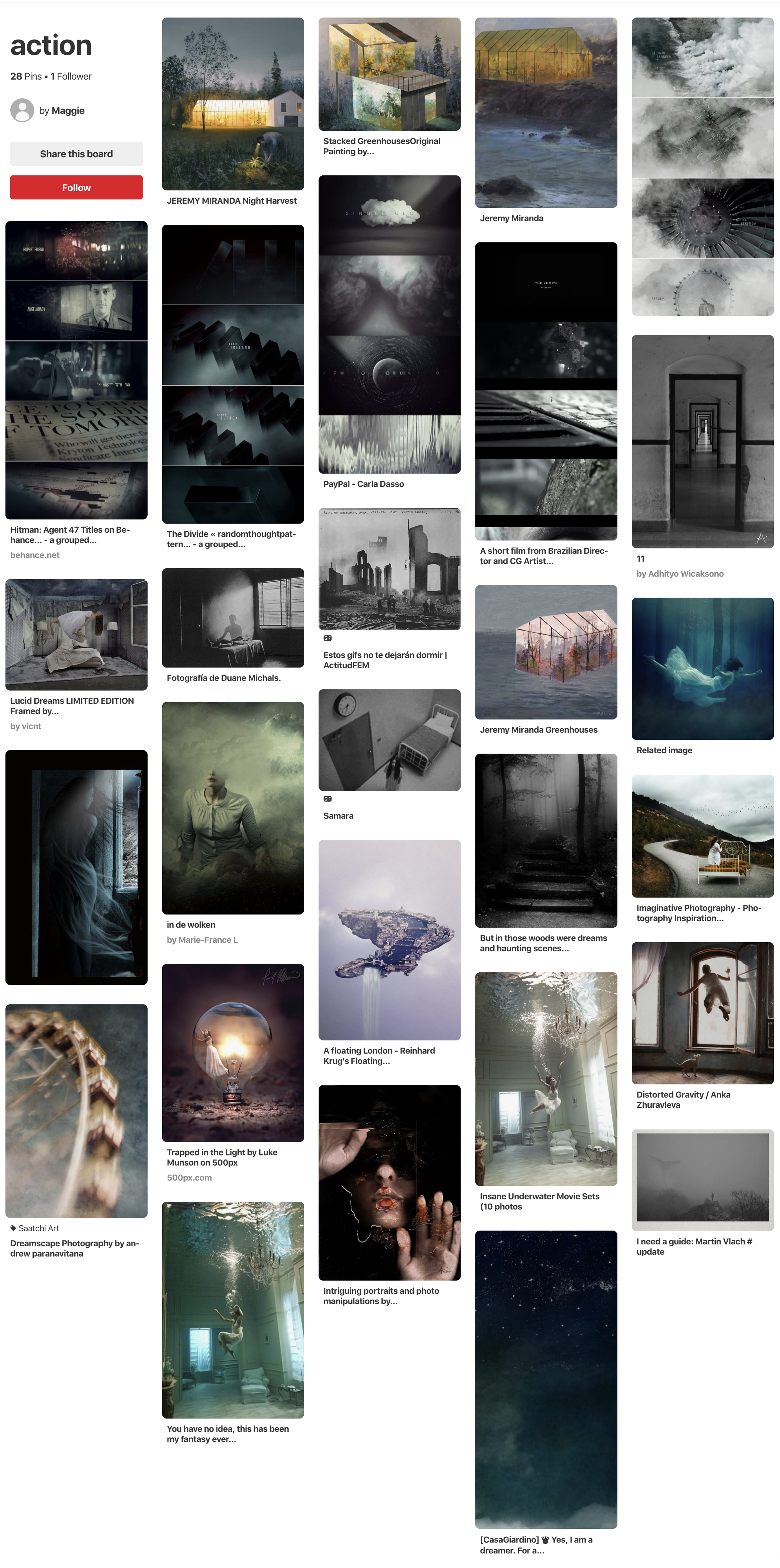 Pinterest board for Action