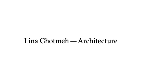 Logo Lina Ghotmeh — Architecture