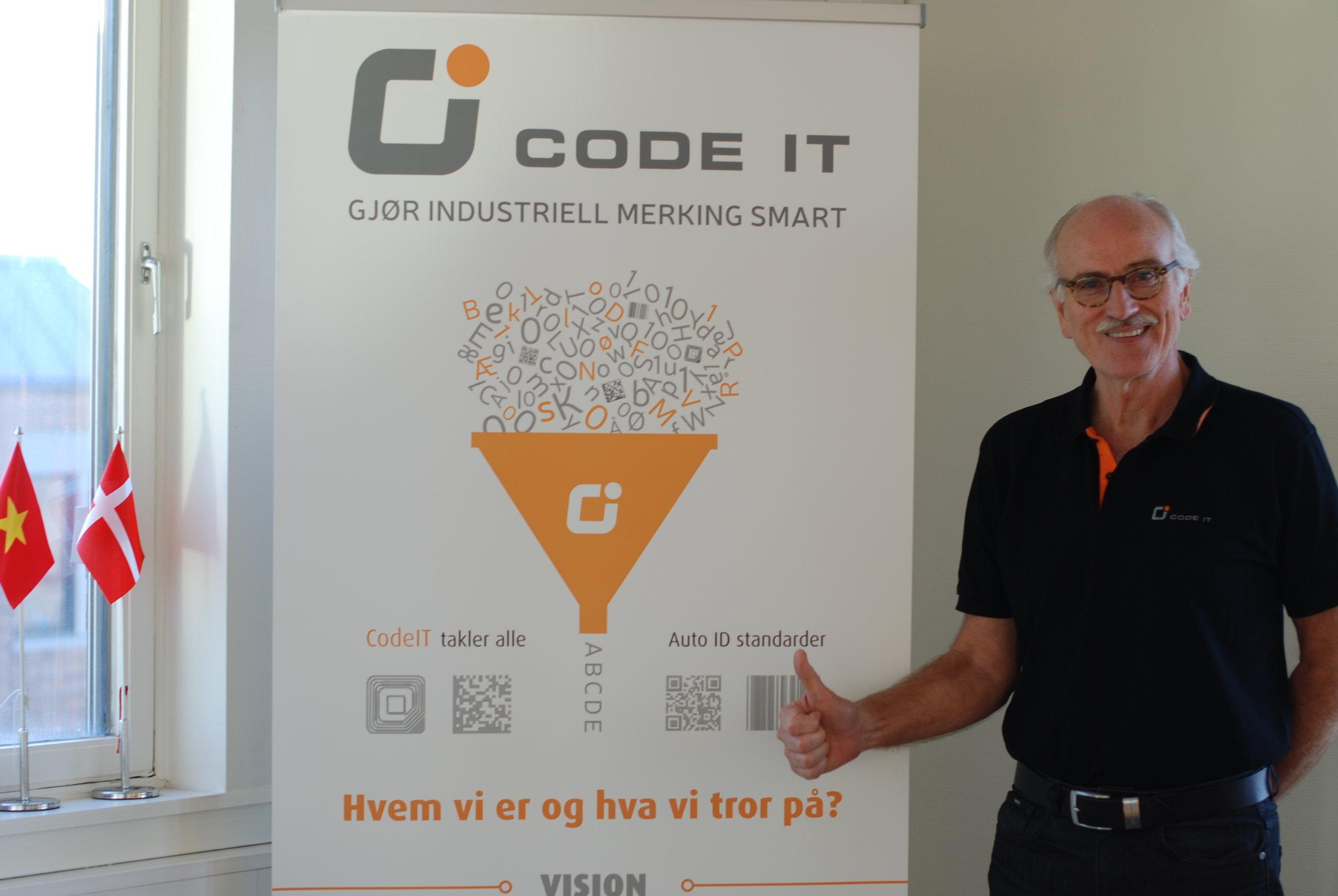 Daglig leder i CodeIT, Bjørnar Torsnes ledet utviklingen av løsninger for industriell merking og sporing. (Foto: Marit Letnes)