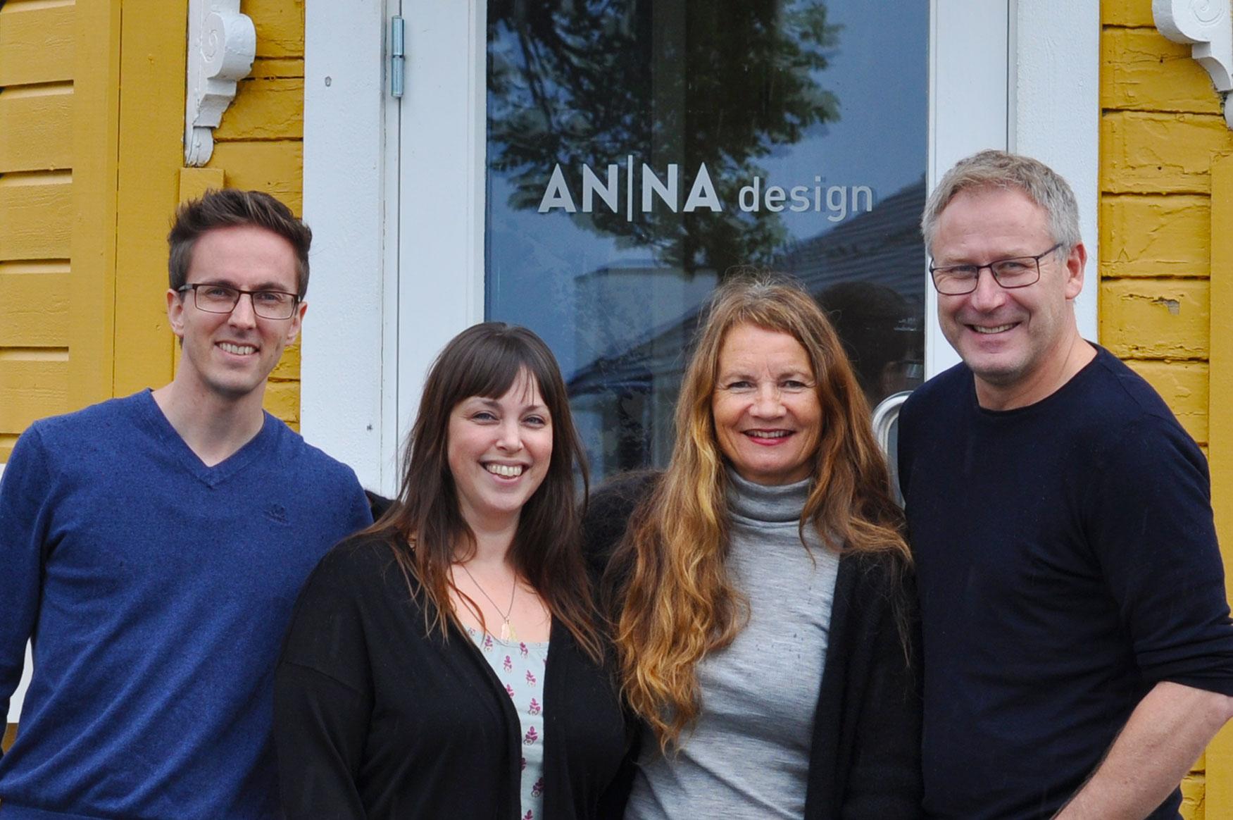 Fra venstre: Vegard Bjørkmo, Mari Storås, Anna Tokle Amundsen og Christian de Courcy.