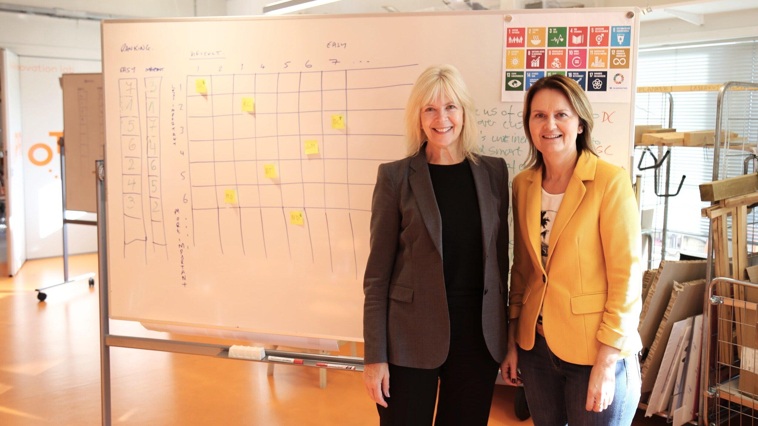 Fra venstre: Trude Margell, kommunikasjonssjef og Gunhild Sjøvik, daglig leder i Cinderella Eco Group.