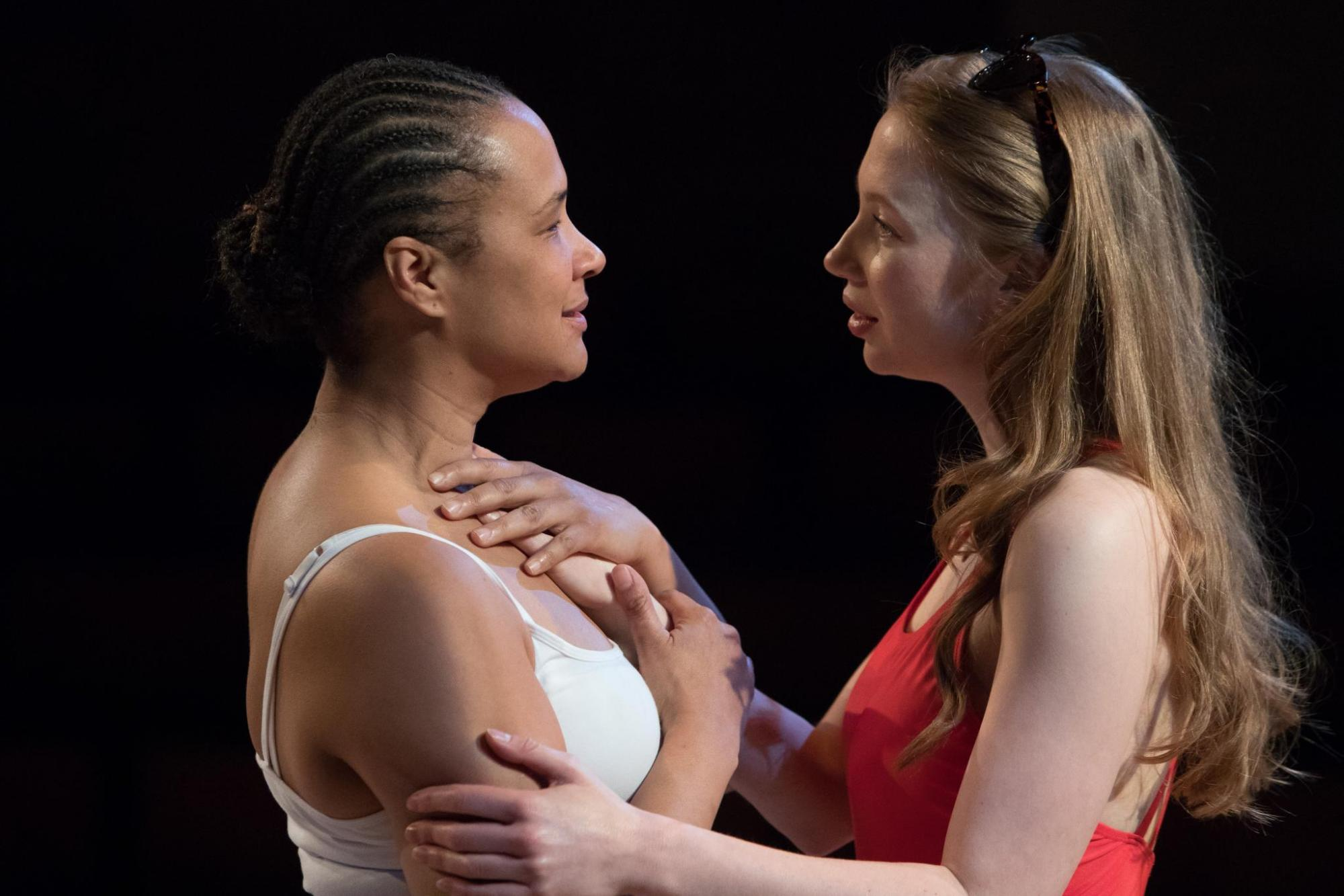 Othello, Golda Rosheuvel as Othello & Emily Hughes as Desdemona JKP-180428-4596.jpg