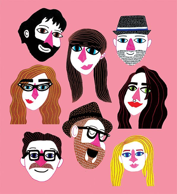 Your face - Make it personal and ask local illustrator Lois Tierney to make a custom print of your favourite faces.