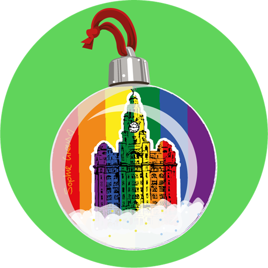 Liver Love - Show your colours and your passion for Liverpool with this boss tree bauble. Created by our friend and top artist Sophie Green.