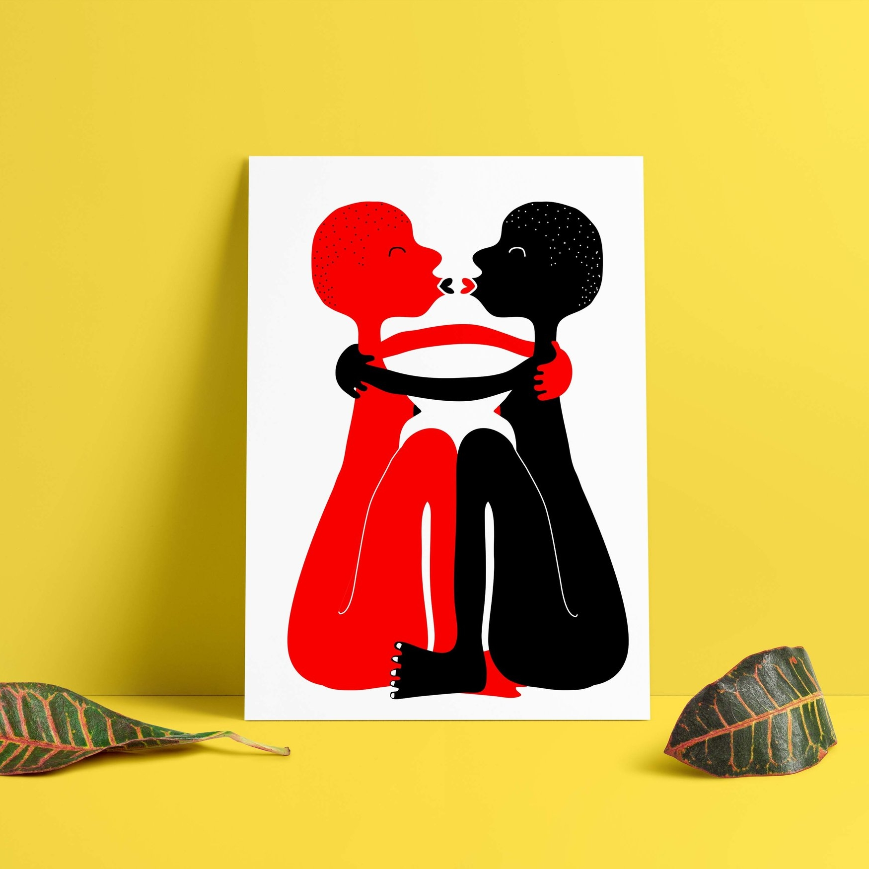 Hey girl hey - Geordie artist iAmiCreative offers prints and t-shirts featuring gorgeous lady love.