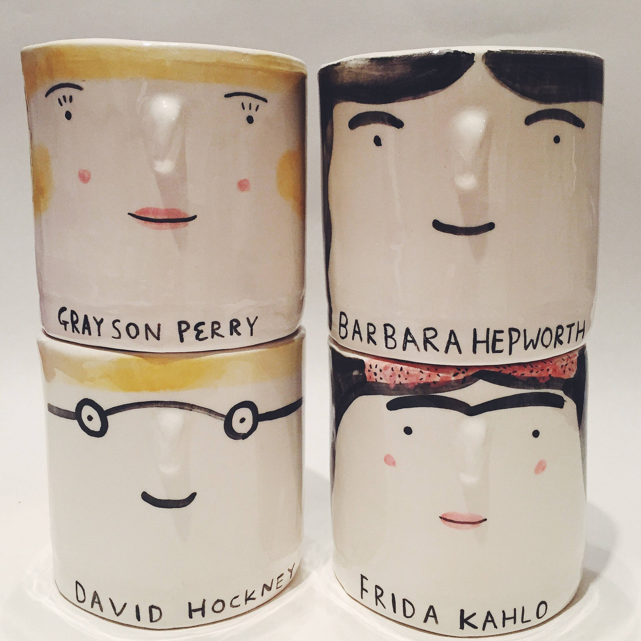 Art-tea-st - Ceramist Alex Sickling makes these gorgeous artist inspired cups. She also does cool tees.