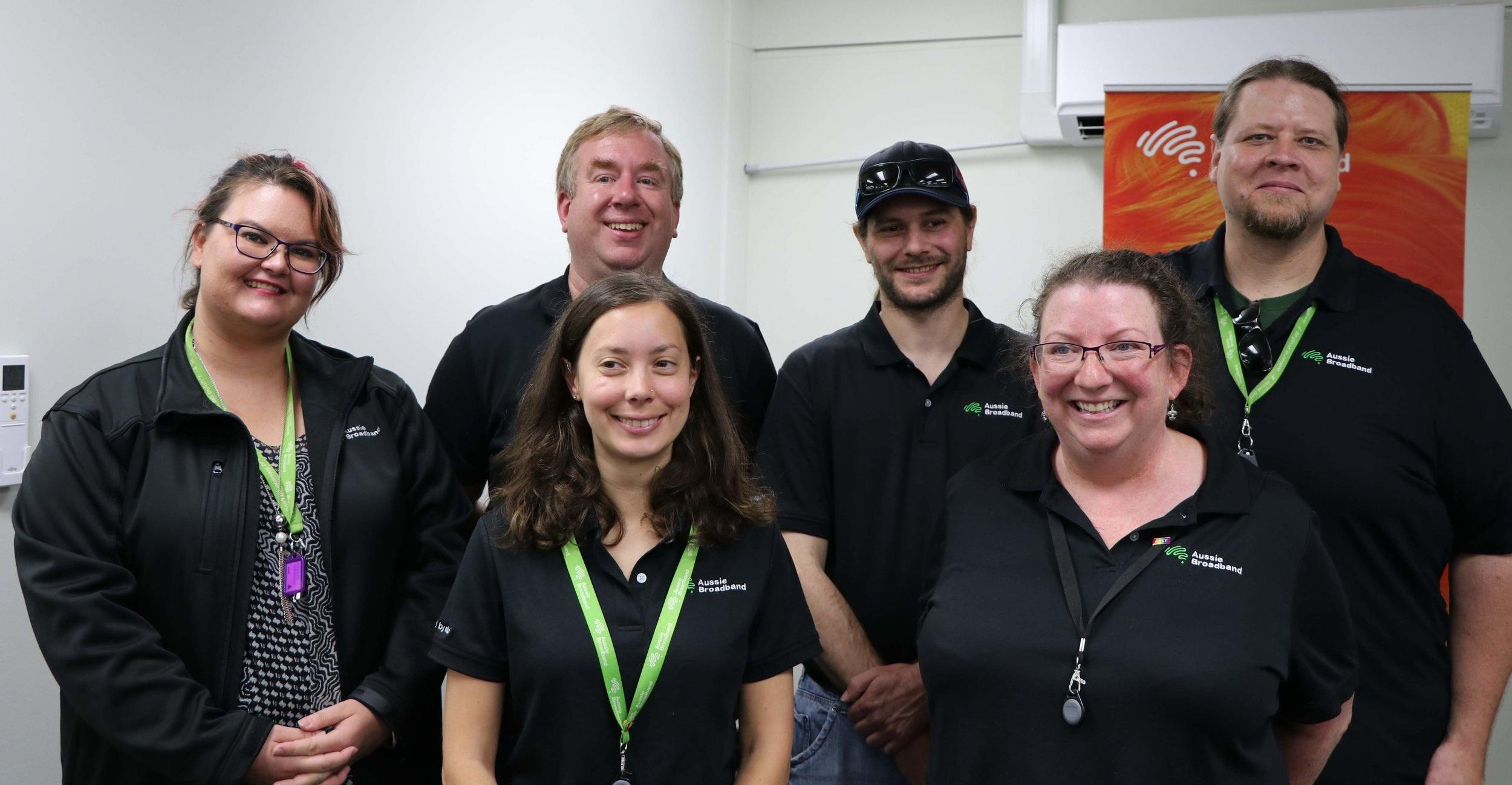 Our recent Aussie Broadband graduates and staff.