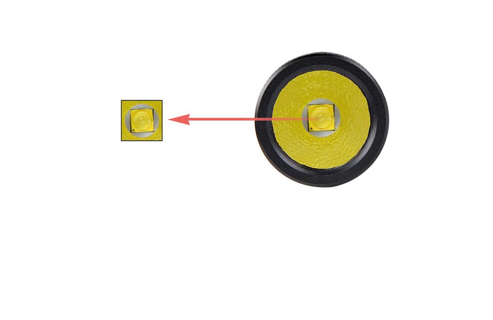 1 Led CREE - La lampe de poche M10 est équipée d'un émetteur CREE produisant jusqu'à 224 lumens
