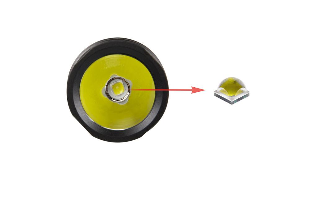 Led CREE XP-L - Un émetteur ultra performant capable de délivrer jusqu'à 200 lumens par watt ! L'EC35 est capable de performances lumineuses exceptionnelles dans un tout petit format