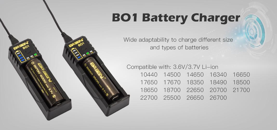 Compatible avec de nombreux types de batteries cylindriques