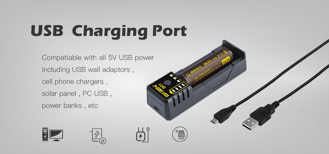 Recharge sur n'importe quel port USB