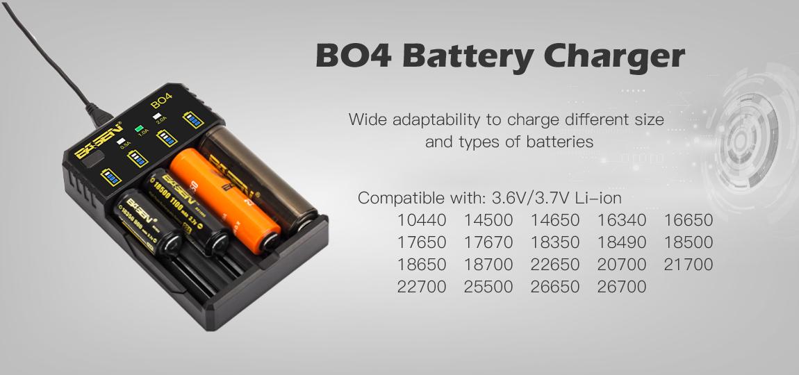 Compatible avec de nombreuses batteries cylindriques