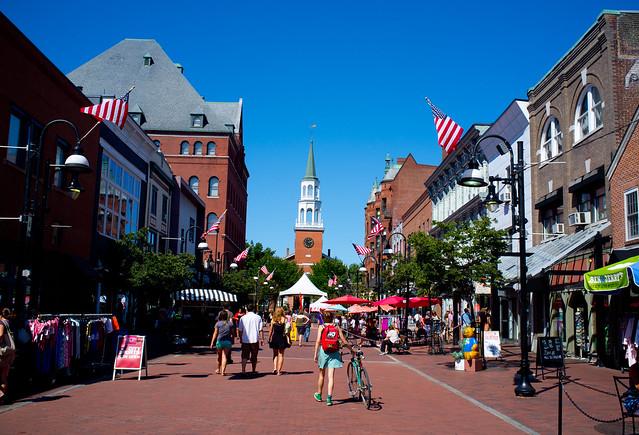Church Street in Burlington, Vermont