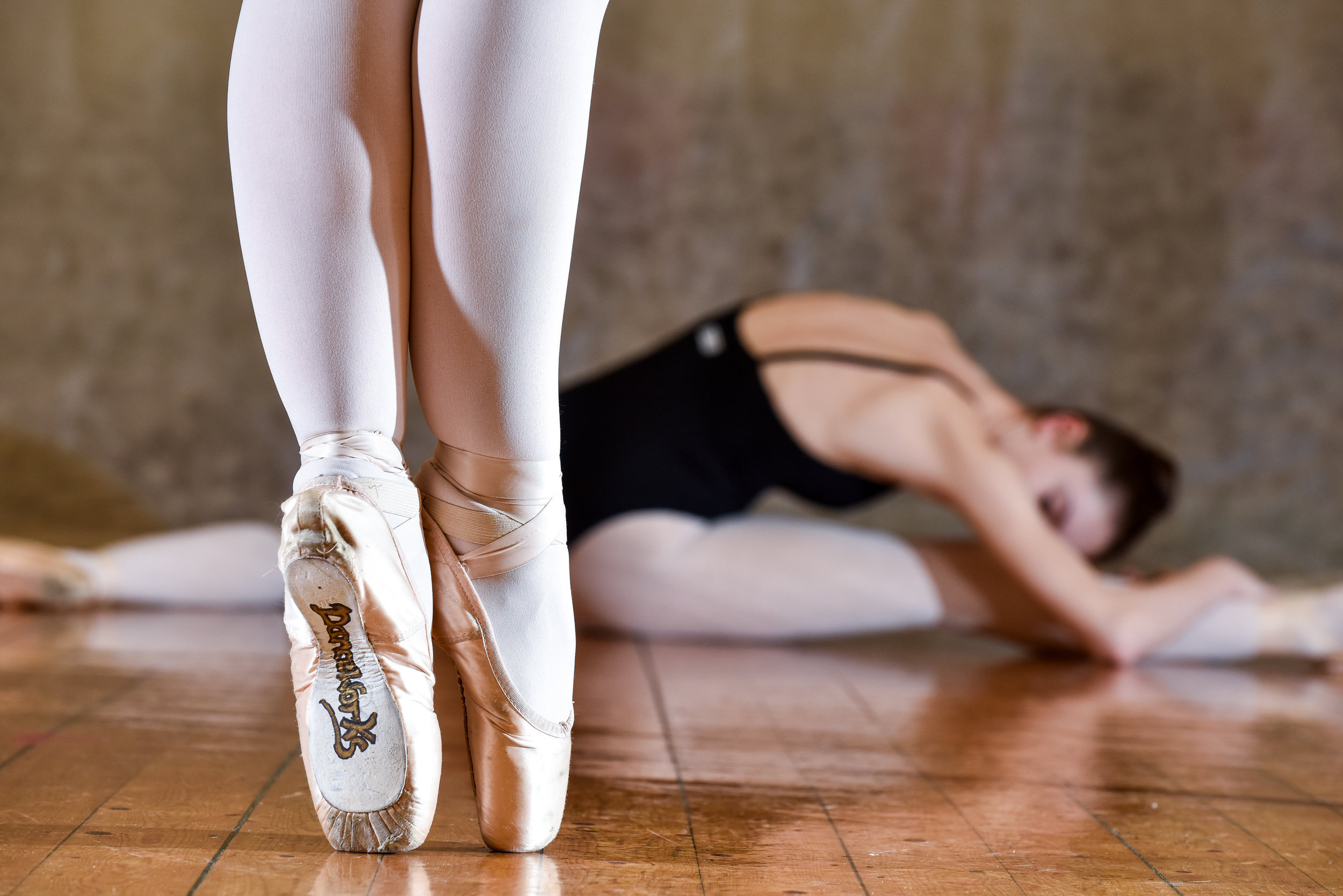 danceworks pointe shoe and lucy.jpg