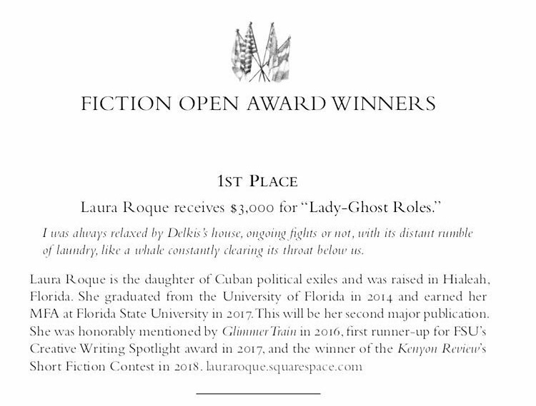 Laura Roque Fiction Open
