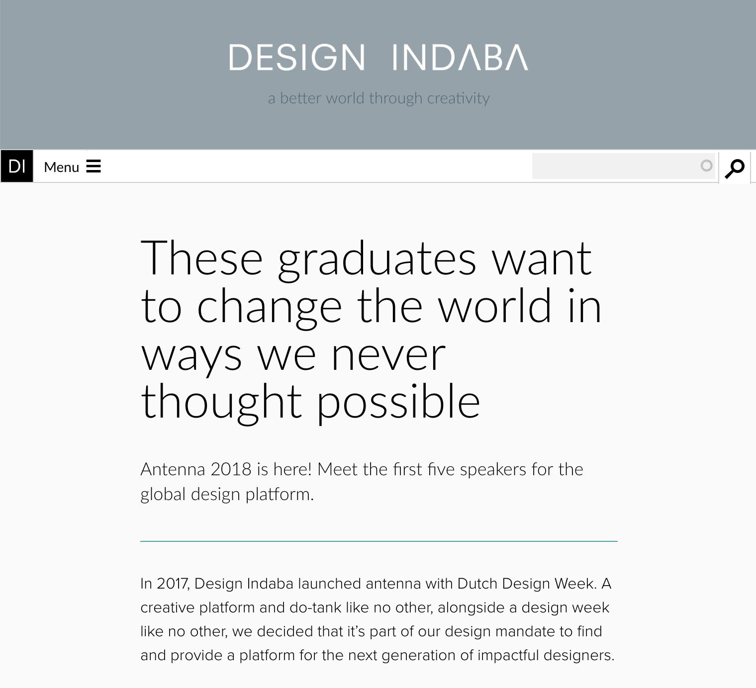 Design Indaba / 2018