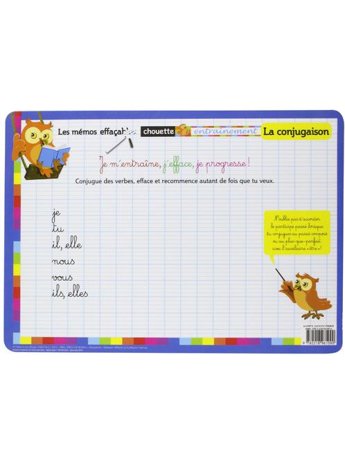 La Conjugaison Les Memos Effacables La Librairie Des Enfants