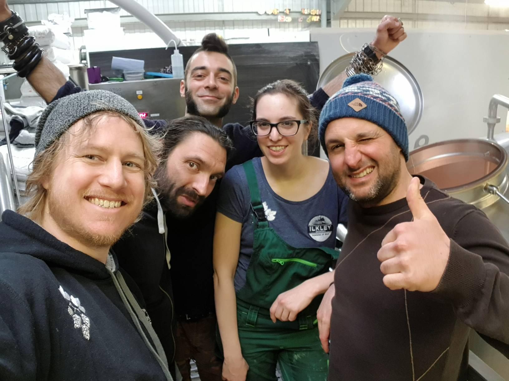 From L-R: Luke Raven (Ilkely), Allo (Canediguerra), Apo (Bruton), Ally (Ilkley) & Andrea (Bruton)