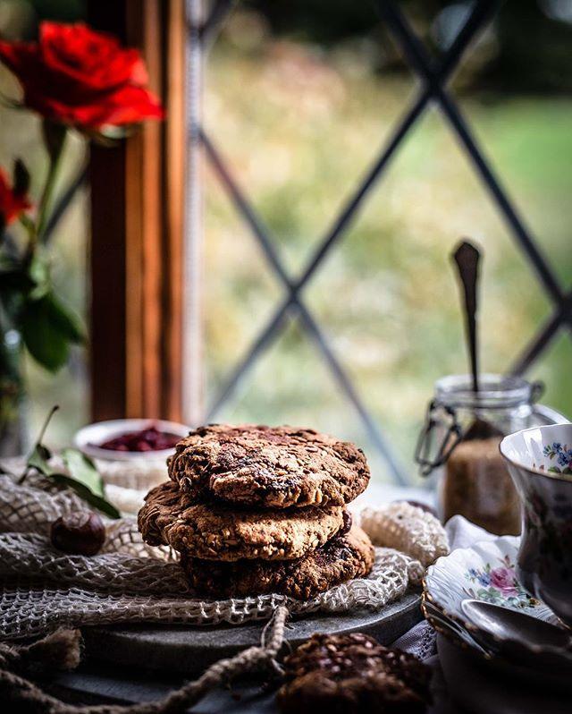 [Werbung/Verlinkung] Frühstück im Bett? Ab und an gönnen wir uns diese entspannte Auszeit mit einer Tasse Tee und frisch gebackenen, glutenfreien Frühstücks-Cookies aus Hafer und getrockneten Feigen und Datteln mit Zutaten von @Koro_de. 🍪Für die passende Süße haben wir die Kekse vor dem Backen noch mit ein bisschen Kokosblütensirup besprenkelt.⠀ ⠀ 👉Kreative Orte: ⠀ ⠀ Für unsere Haferkeksfotos haben wir tatsächlich die Fensterbank im Schlafzimmer in eine Fotolocation verwandelt. Auf diesem Weg konnten wir nicht nur die Morgensonne nutzen, sondern auch die schöne Aussicht auf den kleinen Park vor dem Haus.⠀ Wie das Setting genau aussah, zeigen wir euch heute Nachmittag mit einem kleinen Behind the Scenes in unserer Story.😊 .⠀ .⠀ 📷 Canon 6D / 50mm / ISO 100 / f 2,5 / 1/125⠀ .⠀ .⠀ .⠀ .⠀ .⠀ #powerfoodies #haferkekse #haferflocken #gesunderezepte #gesundundlecker #kekse #backenmitliebe #ahornsirup #frühstückszeit #feigen #korolicious #herbstrezept #herbstküche #trockenobst #organicfood #kokosblütenzucker #foodblogliebe #foodblogliebebacken #selbstgebacken #backenistliebe #solecker #gesundessen #gesundeernährung #diät #zuckerfrei #ohnezucker #rezeptideen #ballaststoffe #gesundesfrühstück #gesundeküche⠀ @still_life_gallery_ @TV_stilllife @Tv_living @gorgeous_stilllife_ @Stilllife_perfection @Thefeedfeed.glutenfree⠀ ⠀