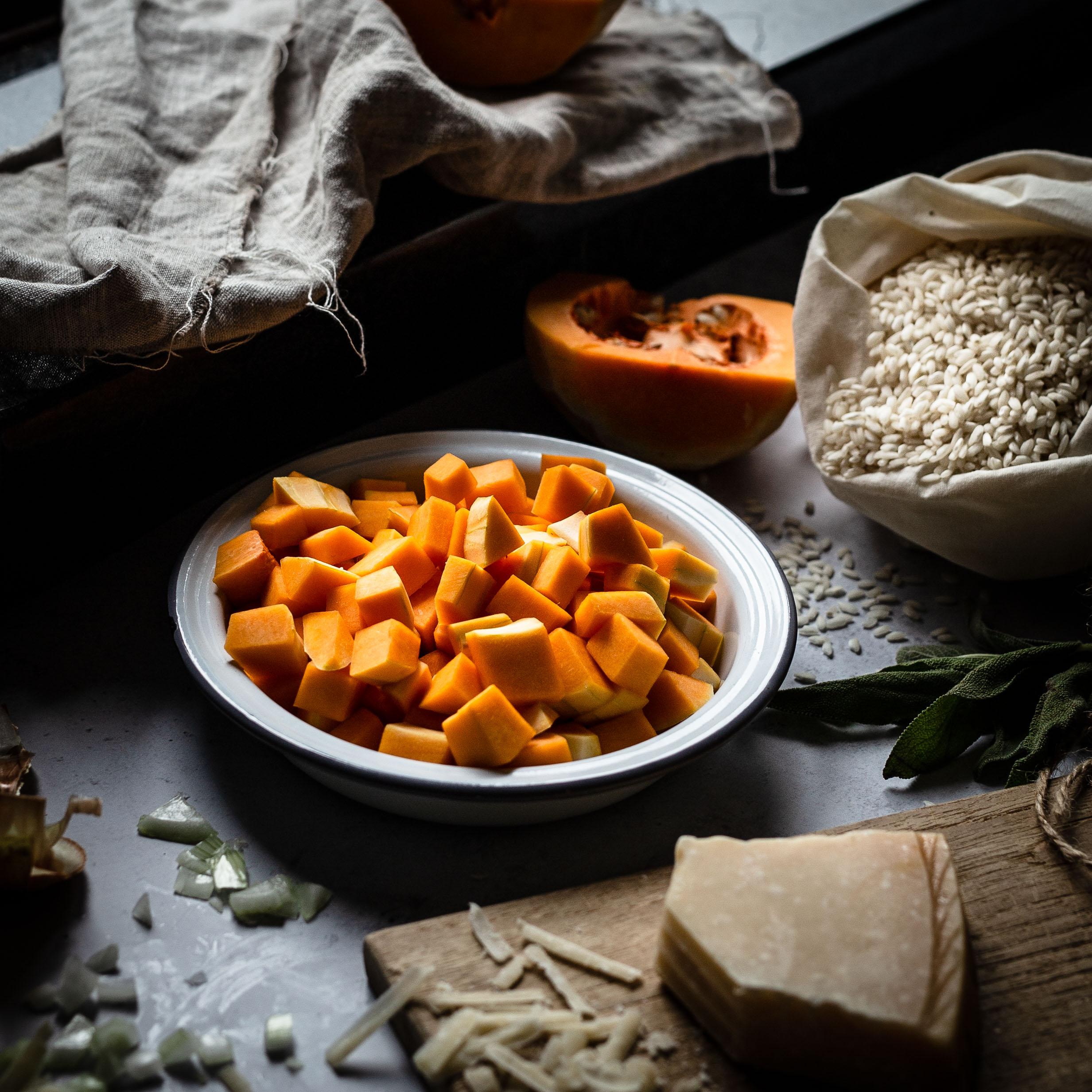 Kürbis Parmesan Foodstyling