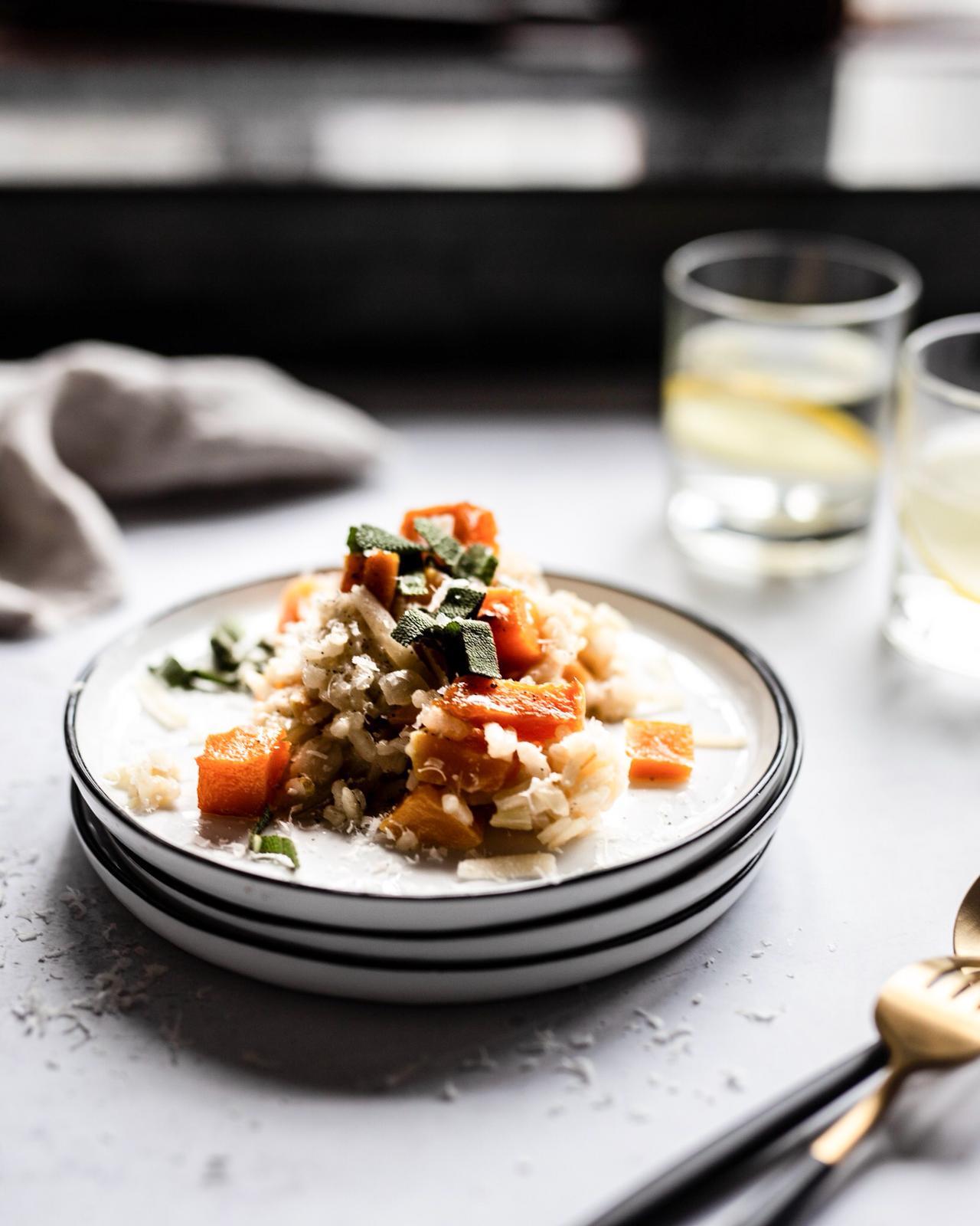 Risotto Kürbis Salbei Parmesan Foodstyling