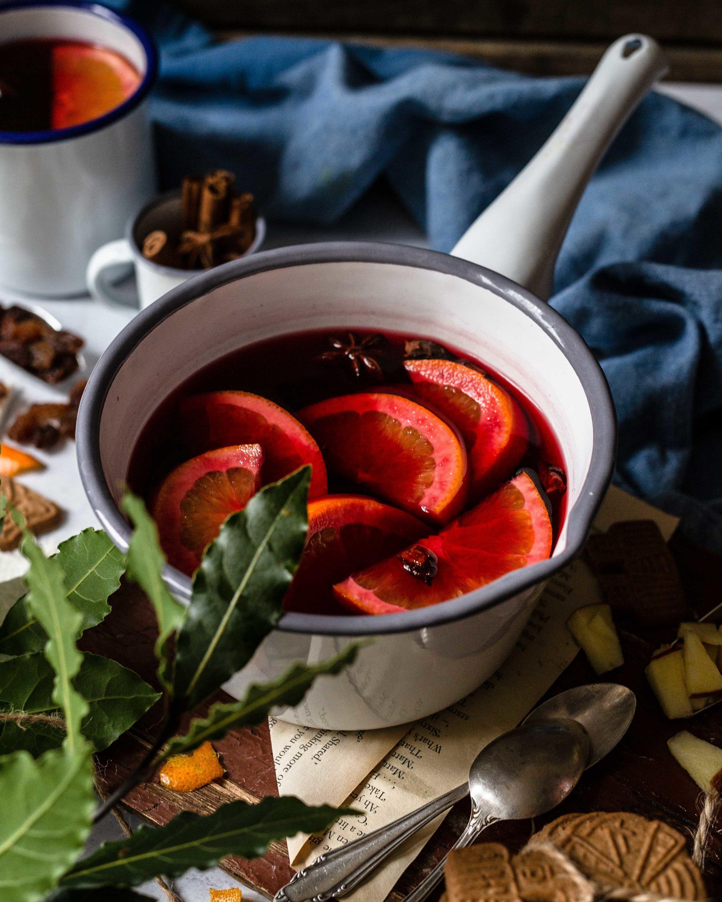 Emaille Punsch Glühwein Foodfotografie