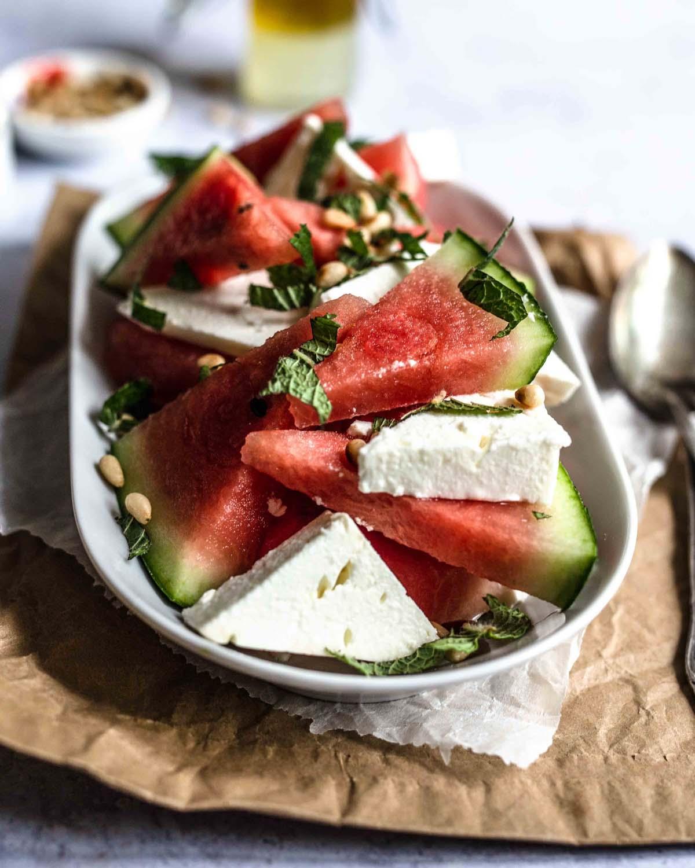 Wassermelonen-Feta-Salat….
