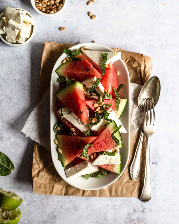 …dazu ein wenig Olivenöl und Minze
