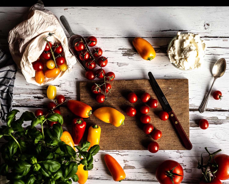 Tomaten Tarte - Buntes Foodstyling