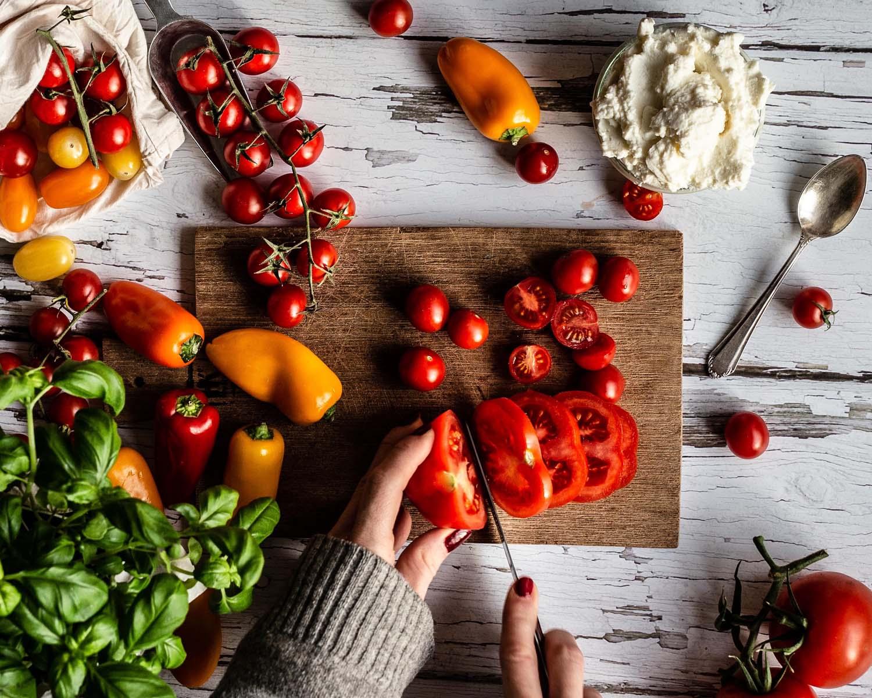 Tomaten Tarte in der Vorbereitung