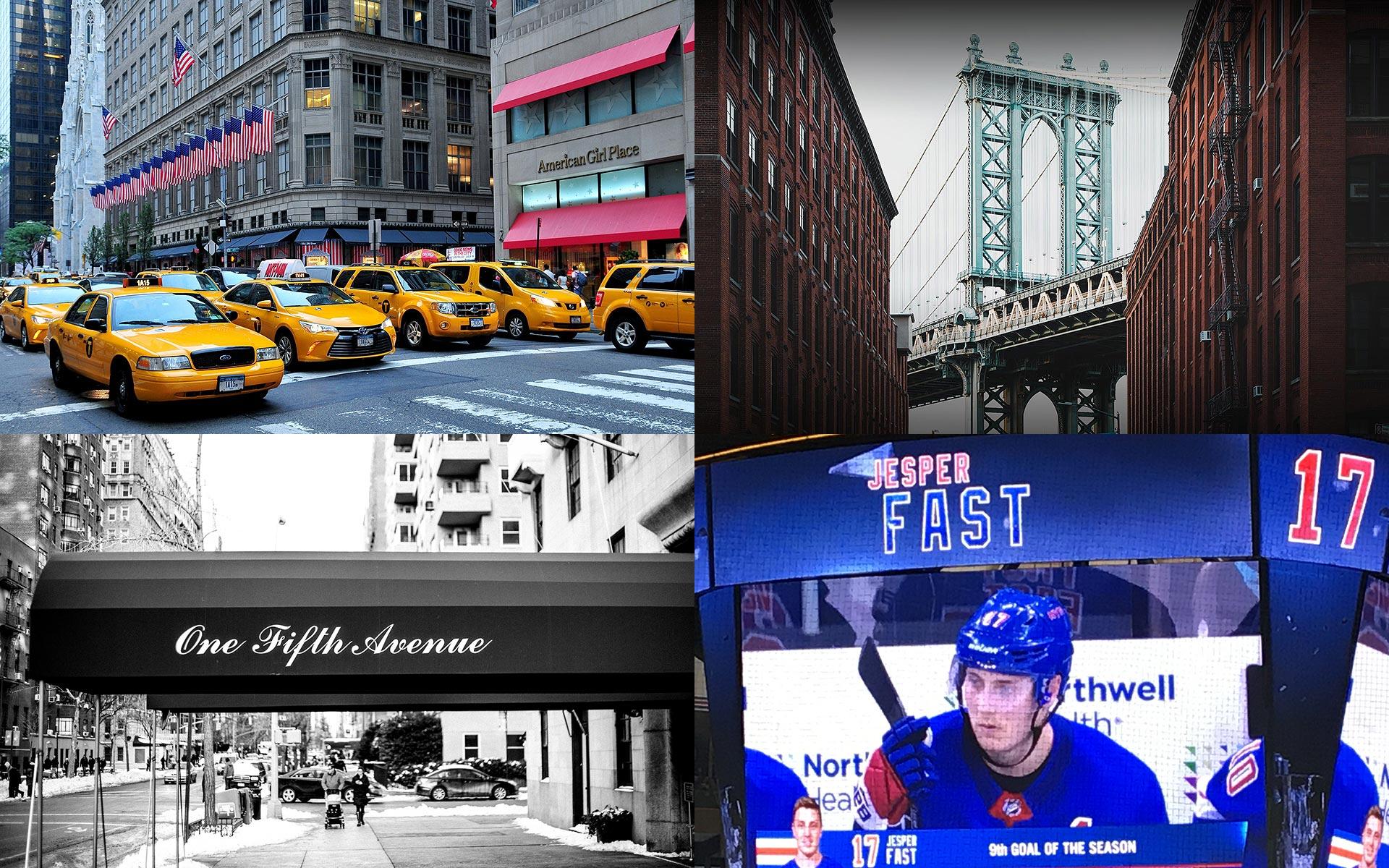 DAG 2 - GAMEDAY - Vi inleder dagen med stadrundtur. Vår duktiga guide Douglas Ljungkvist tar oss omkring på Manhattand där vi får uppleva Central Park, Fifth Avenue, Ground Zero, Chelsea Market m.m. Douglas är ursprungligen från Göteborg och har bott i New York i 25 år.På kvällen är det dags för New York Rangers på hemmaplan i Madison Square Garden. Ärkerivalen New York Islanders kommer på besök. Matchen börjar kl 19:00 men vi träffas redan kl 17:00 för gemensam uppladdning på en av våra favoritrestauranger Pennsylvania Six.