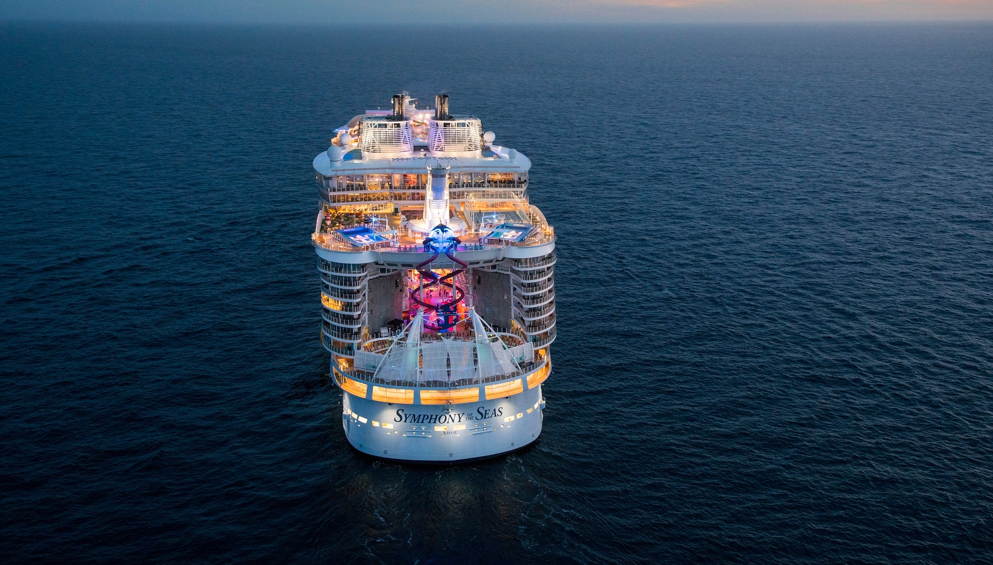 Världens största kryssningsfartyg - Symphony of The Seas. Klicka här för att se alla våra avgångar med detta fantastiska fartyg. Pris från 7900 kr per person för en veckas kryssning.