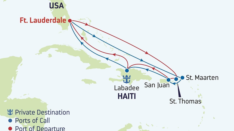 Karibien - Njut av flera varierade rutter med Royal Caribbean. Sök efter din drömresa bland 100-tals kryssningar.