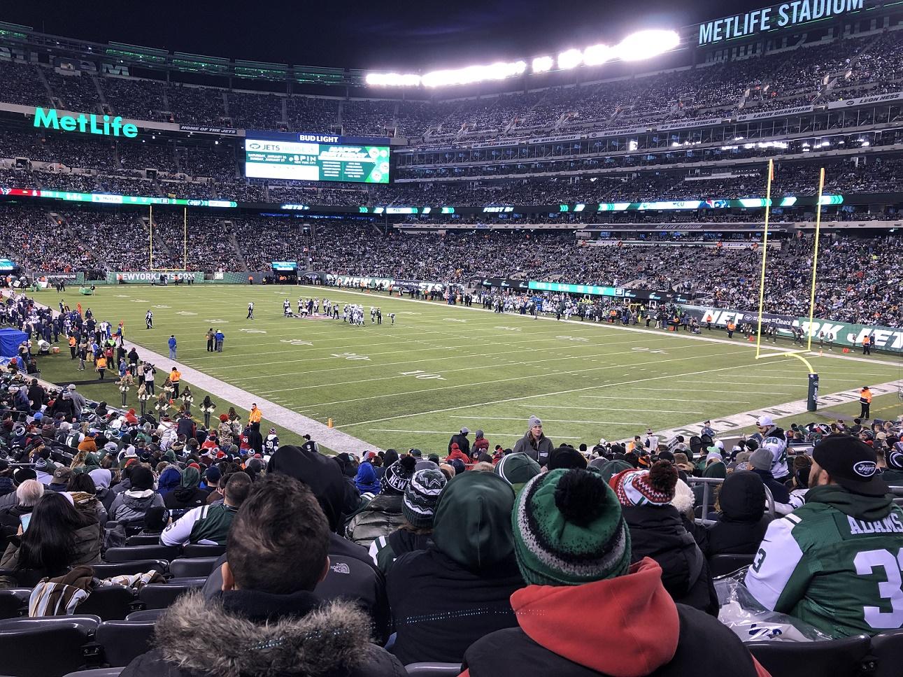 Bild från gruppresan 14-18 december 2018 Met Life Stadium NY. Foto: Matthias Sjödin. Ny gruppresa till NFL resa planeras hösten 2019.
