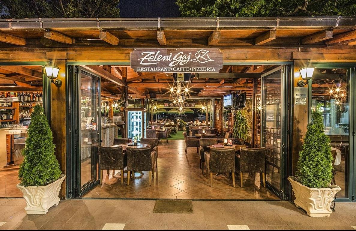 Zeleni Gaj - Avslutningsmiddagen är i Budva på restaurang Zeleni Gaj. En populär restaurang vid havet.