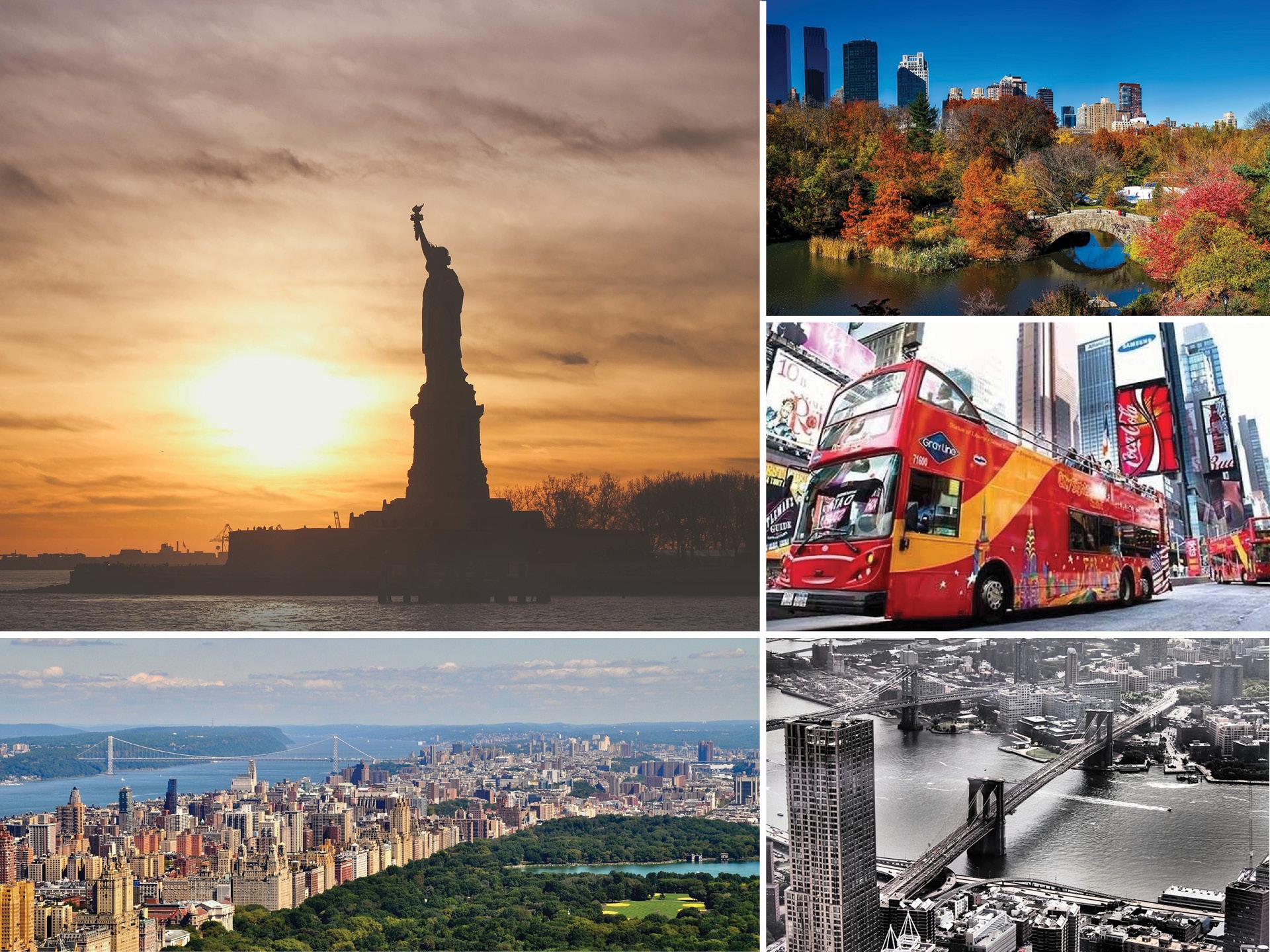 DAG 2 - FREDAG - I resan ingår ett 72 timmars pass med hop-on hop-off bussarna i New York. Downtown, Uptown, Brooklyn, Kvällsturen och Sightseeing Ferry ingår under dessa 72 timmar. Ta dig till något eller några av dina valda utflykter som ingår i paketet.Är du intresserad av sport är rundturen i Madison Square Garden, en av världens kändaste arenor ett alternativ. Annars kan kanske dagen spenderas på ett eller flera museer i staden. Det finns nämligen en uppsjö utav dem.