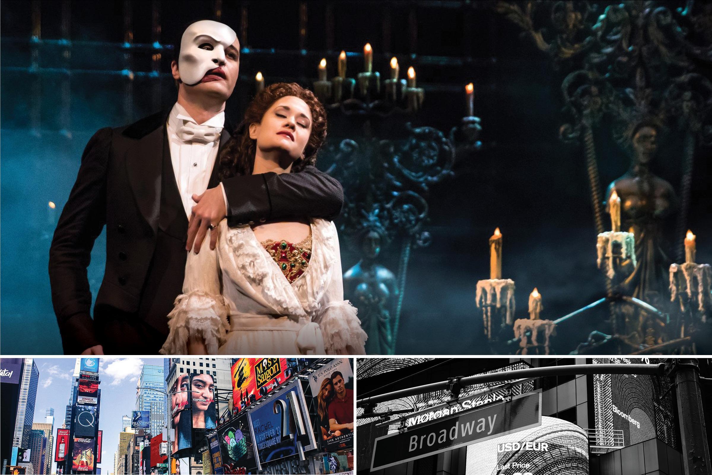 Broadwaymusikal  Se din favorit  Välj vilken Broadwaymusikal du vill se. Det är helt upp till dig att välja vilken dag du vill uppleva en musikal på självaste Broadway.    Alla dessa föreställningar har du att välja mellan (Länk   )