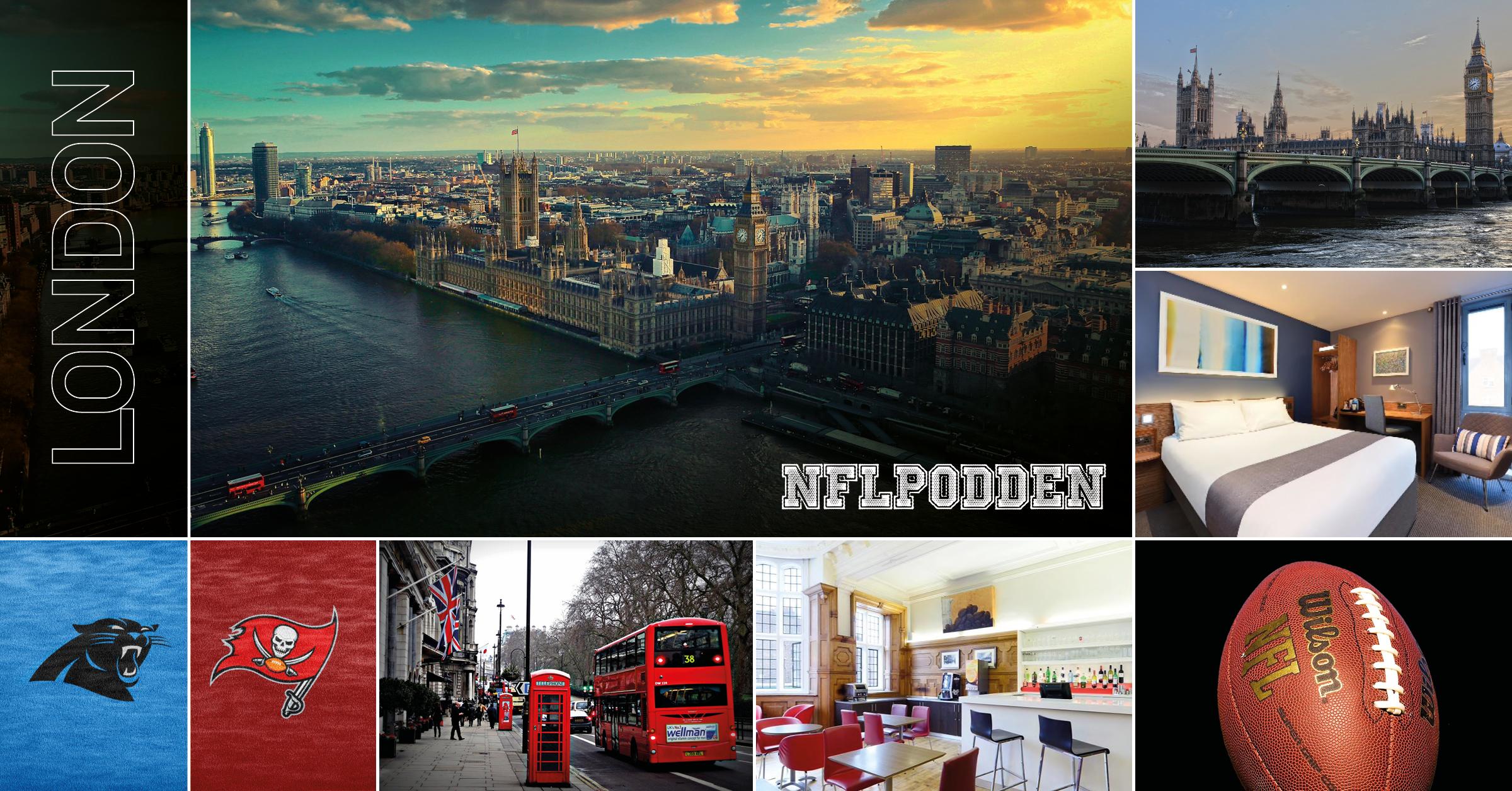 NFL-resa London - 12 - 14 oktober Har du drömt om att se en NFL-match - då har du verkligen chansen nu och dessutom på europeisk mark när NFL återigen kommer till London för mötet mellan Panthers - Buccaneers.