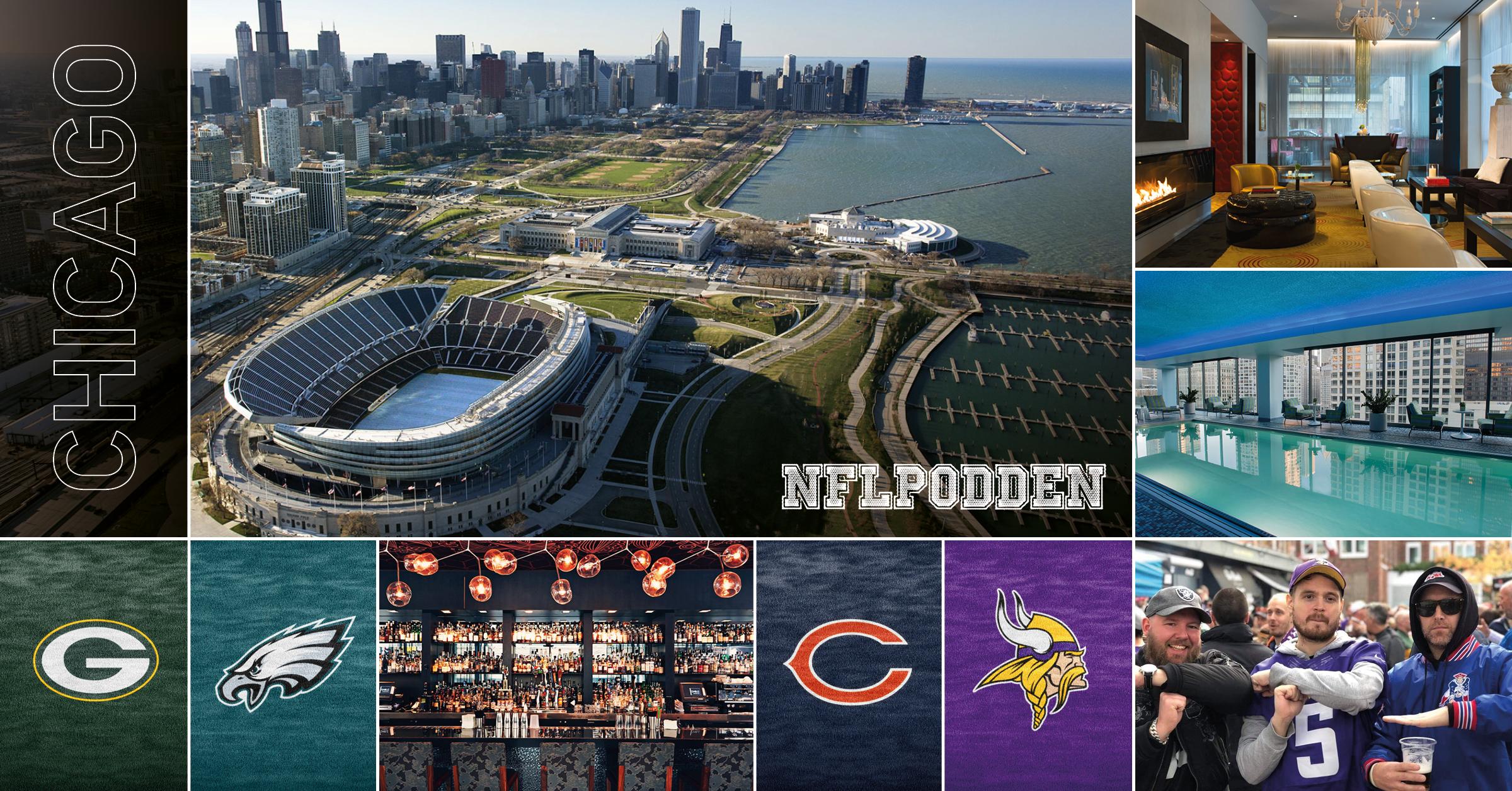 NFL-resa Chicago - 25 - 30 september tar vi dig till Chicago för att uppleva två högklassiga matcher från NFL. Utflykt till Green Bay, ölprovning mm. Två grymma matcher: Green Bay Packers - Philadelphia Eagles och Chicago Bears - Minnesota Vikings.