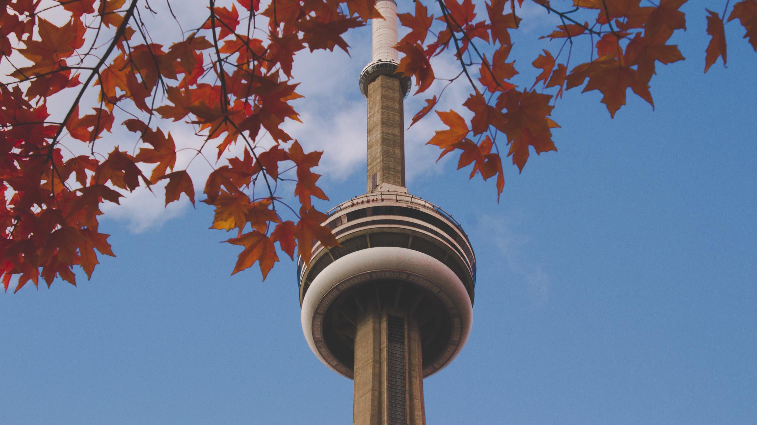 CN Tower - Torontos stora landmärke är det här 553 meter höga torn som är en TV- och radiomast. Inuti tornet kan du gå på ett glasgolv och äta i tornets roterande restaurang med hisnande utsikt.