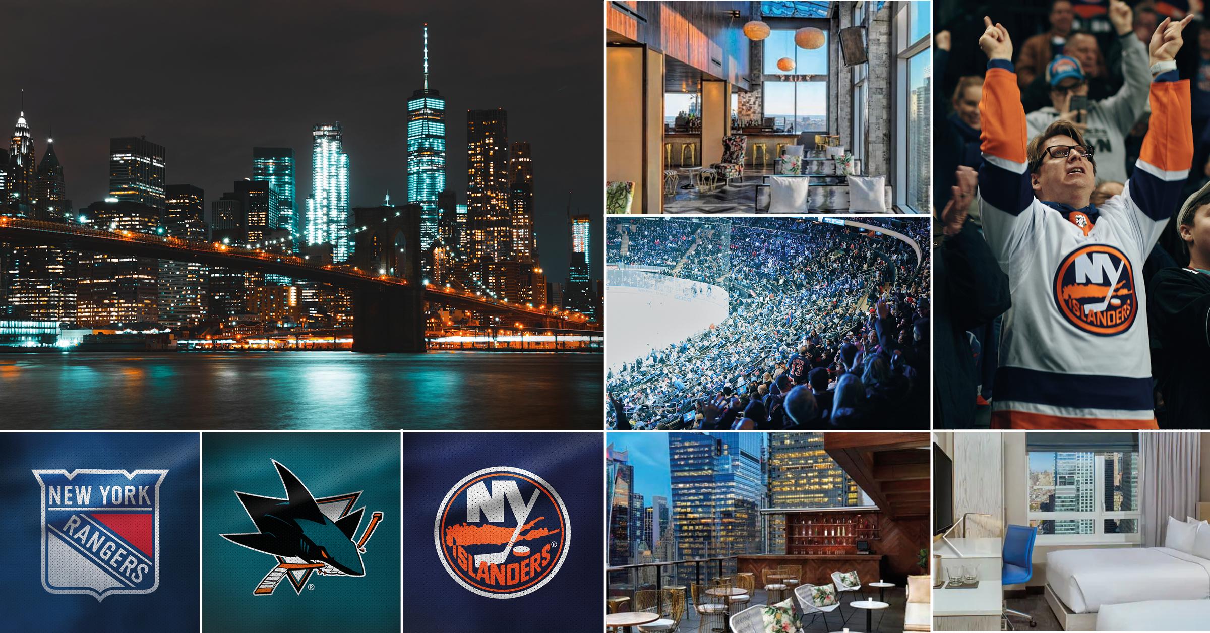 NHL-resa New York21-27 februari 2020 - Direktflyg med SAS t/r, boende fem nätter på Doubletree Hilton Times Square West centralt på Manhattan, stadsrundtur, tre betalda upplevelser och två supermatcher från NHL väntar resenärerna på den här paketresan till New York. Derbyt mellan Rangers och Islanders samt mötet Rangers och Erik Karlssons San Jose Sharks.